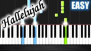 Hallelujah - EASY Piano Tutorial by PlutaX