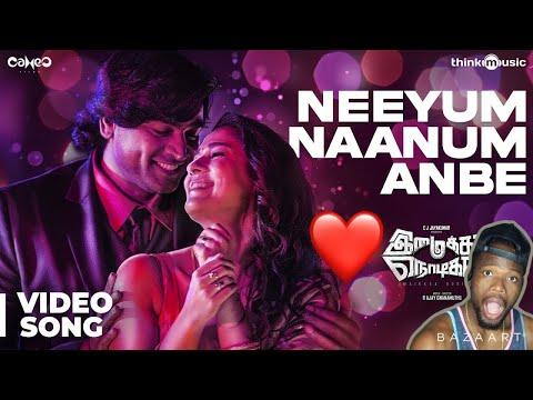 Imaikkaa Nodigal Neeyum Naanum Anbe Video Song Vijay Sethupathi Nayanthara Hiphop REACTION