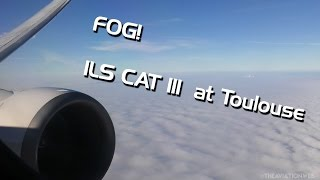 ILS CAT III | Boeing 737 Landing in Dense Fog at Toulouse Blagnac Airport