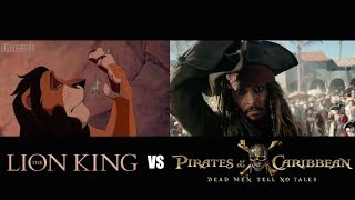 'Pirates Of The Caribbean 5' Side-By-Side w/ LION KING
