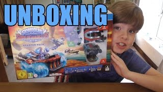 Unboxing Skylanders SuperChargers PS4 Starter Pack | KID GAMING