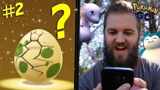 HATCHING 9 X 2KM SPECIAL EVENT EGGS - POKEMON GO MYTHICAL QUEST (PART 2)