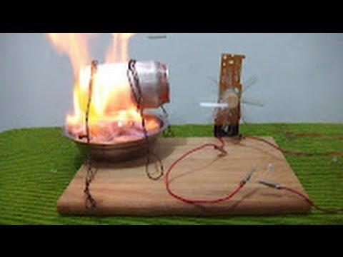 Como hacer un generador de energía eléctrica Maqueta demostrativa