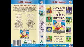 A Golden Treasury of Nursery Rhymes (2000 Reissue UK VHS)