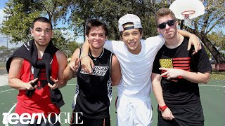 """Hanging out with Austin Mahone and """"the Foolish Four"""" – Besties: Bromance Edition – Teen Vogue"""