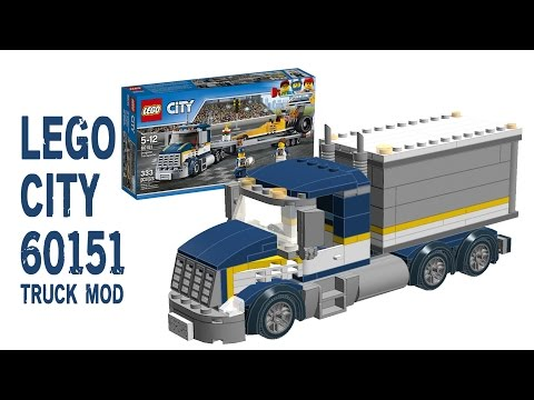 Building 2017 Lego City 60151 Truck Mod Instructions Tutorial Daikhlo