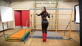 Latex fetish with Dutch Dame