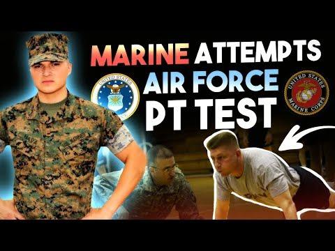 watch United States Marine Attempts USAF PT test