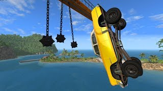 Giant Chain hanging Crashes - BeamNG Drive