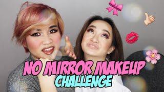NO MIRROR MAKEUP CHALLENGE ft. Chieu Dip | Kaity Nguyen