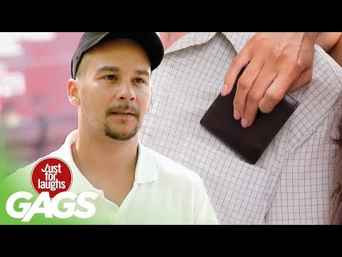 Hot Girl Steals Wallet - Just For Laughs Gags