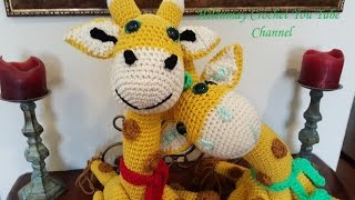 Crochet Amigurumi Giraffe Part 1 of 2 DIY Tutorial