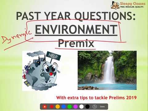 PreMix Past Year UPSC Questions ENVIRONMENT