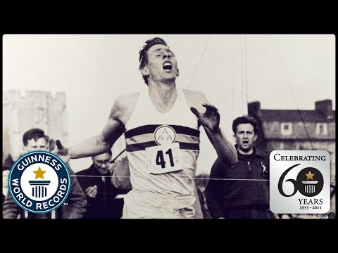 First Sub Four Minute Mile Sir Roger Bannister Guinness World Records 60th Anniversary