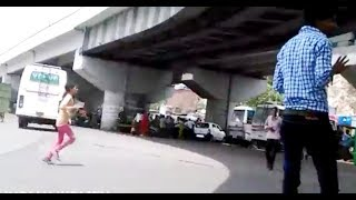 CCTV Recorded Bike and Car Crashes in India