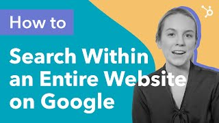 How to Search a Website