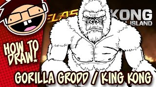 How to Draw GORILLA GRODD (The Flash) or KING KONG (Kong: Skull Island) | Easy Step-by-Step Tutorial