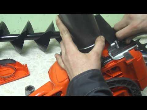 Самодельный ледобур из бензопилы видео 5