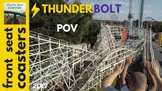 Thunderbolt POV Full HD Six Flags New England 2017 Roller Coaster Mid Seat On Ride
