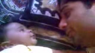 Luqman playing with daddy imran.3gp