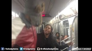 Man smacks the soul out of girl on the NY Subway @Hodgetwins