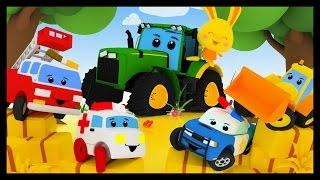 Dans la ferme de Mathurin version Vroum Vroum Touni - Comptines avec les voitures - Titounis