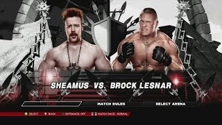 Sheamus vs. Brock Lesnar in a WWE 2K14 Bloodbath