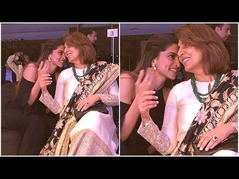 Deepika giggles with her ex Ranbir's mother Neetu Kapoor