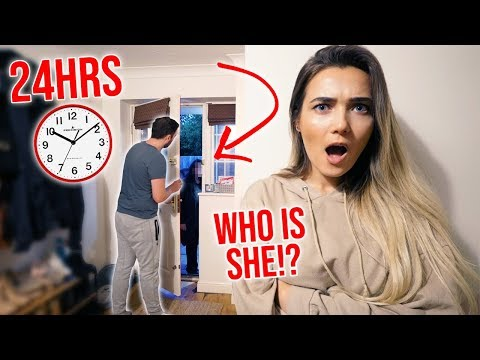I Spent The Night In My Boyfriends House & He Had No Idea... (24 Hour Challenge)