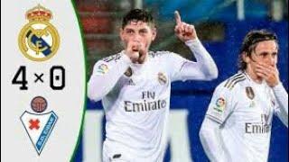 أهداف مباراة ريال مدريد و إيبار في الدوري الاسباني 2019     4-0   مباراة نارية