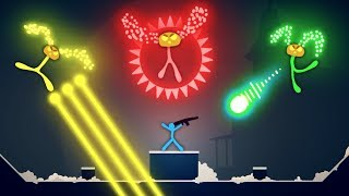 Stick Fight NEW BOSSES vs Hero Stickmen! (Stick Fight the Game Multiplayer Gameplay NEW Update)