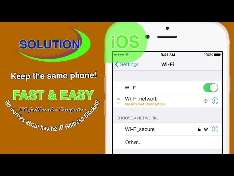 No Internet Connection/Blocked IP Address (iPhone Wi-Fi Problem - Solution)