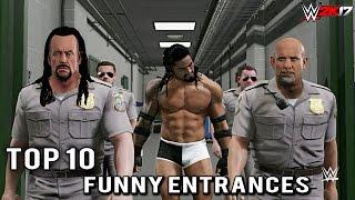 WWE 2K17 - Top 10 Craziest Funny Entrances