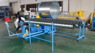 BLKMA company Spiral round duct making/forming machine,round tube spiral duct Manufacture machine