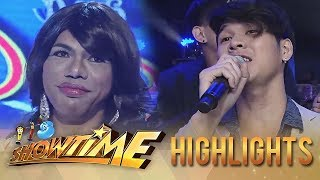 It's Showtime Miss Q & A: Hashtag Wilbert serenades Abbie Hulk Loggan Abadiez