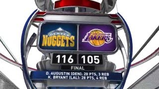 Denver Nuggets vs Los Angeles Lakers - March 25, 2016