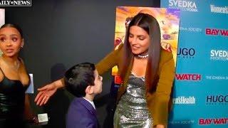 9-year-old red carpet reporter interviews the Baywatch cast | Priyanka Chopra