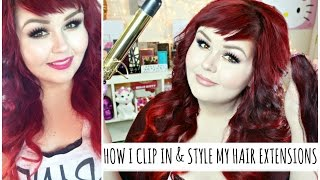 How I Clip In & Style My Hair Extensions   VP Fashion Review