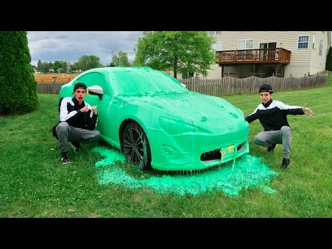 SLIME PRANK ON BROTHERS CAR