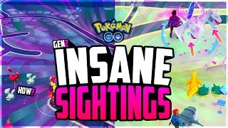 Pokemon Go - The Top 10 CRAZIEST POKEMON GO SIGHTINGS! (RAREST Pokemon in Pokemon Go!)