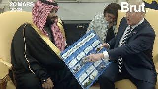 Donald Trump vend des armes à l'Arabie Saoudite et le montre
