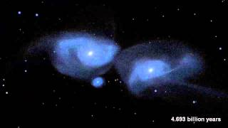 Collision entre Andromède et la voie lactée