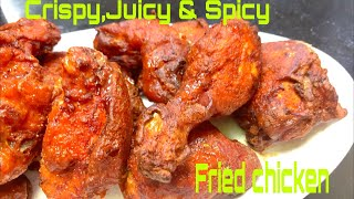 How to make Crispy, Juicy & Spicy Fried Chicken |Desi Chicken Fry recipe | Crispy Fried Chicken