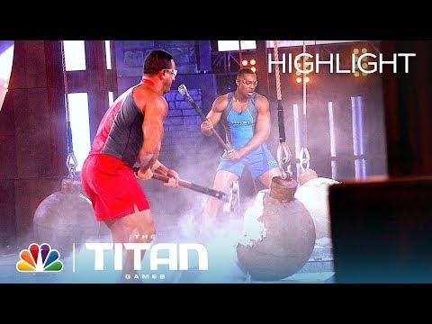 Heavyweight Competitors Struggle in an Intense Atlas Smash Battle Titan Games 2019