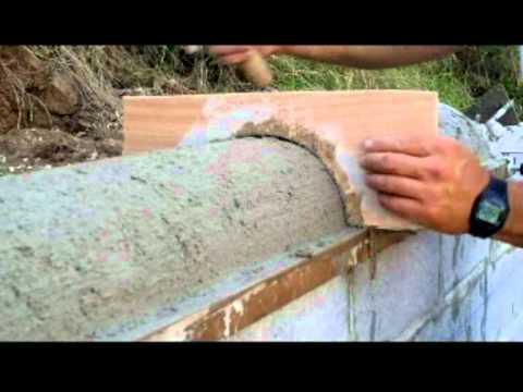 Revoque zarpadeado Muro de contención con hormigón y bloques armados Capítulo III video nº 53