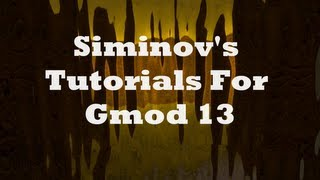 Siminov's Swep Tutorials: Introduction And Basics