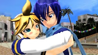 MMD and Vocaloid - Len and Kaito's SERIOUS Adventure (Funny)