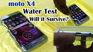 Moto X4 Water Drop Test   Will it Survive??? (HINDI)