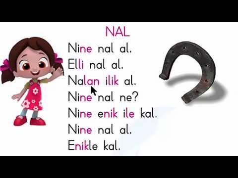 ELAKİN Sesleri Hece birleştirme etkinliği N sesi 1. Bölüm Dik temel harfler okuma yazma öğretimi