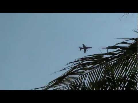RAAF Hawk 127s Flying Over Hidden Valley Tourist park